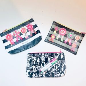 SEPHORA & IPSY [NEW] Set of 3 Makeup Bags